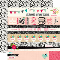 Echo Park - Forward With Faith Collection - 12 x 12 Double Sided Paper - Border Strips