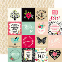 Echo Park - Forward With Faith Collection - 12 x 12 Double Sided Paper - 3 x 3 Journaling Cards