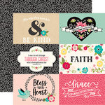 Echo Park - Forward With Faith Collection - 12 x 12 Double Sided Paper - 6 x 4 Journaling Cards