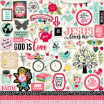 Echo Park - Forward With Faith Collection - 12 x 12 Cardstock Stickers - Elements