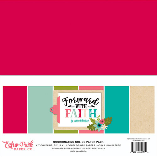 Echo Park - Forward With Faith Collection - 12 x 12 Paper Pack - Solids