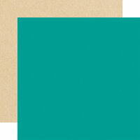 Echo Park - Forward With Faith Collection - 12 x12 Double Sided Paper - Dark Teal
