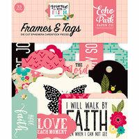 Echo Park - Forward With Faith Collection - Ephemera - Frames and Tags