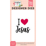 Echo Park - Forward With Faith Collection - Designer Dies - I Love Jesus