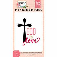 Echo Park - Forward With Faith Collection - Designer Dies - God Is Love Cross