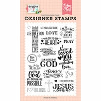 Echo Park - Forward With Faith Collection - Clear Photopolymer Stamps - Jesus Loves Me