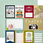 Echo Park - Getaway Collection - 12 x 12 Double Sided Paper - Journaling Cards