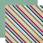 Echo Park - Getaway Collection - 12 x 12 Double Sided Paper - Travel Stripe