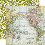 Echo Park - Getaway Collection - 12 x 12 Double Sided Paper - Map
