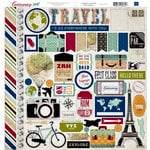 Echo Park - Getaway Collection - 12 x 12 Cardstock Stickers - Elements