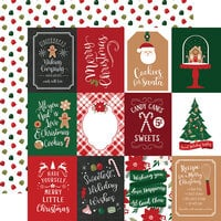 Echo Park - A Gingerbread Christmas Collection - 12 x 12 Double Sided Paper - 3 x 4 Journaling Cards