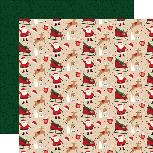 Echo Park - A Gingerbread Christmas Collection - 12 x 12 Double Sided Paper - Cookies for Santa