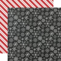 Echo Park - A Gingerbread Christmas Collection - 12 x 12 Double Sided Paper - Snowflakes