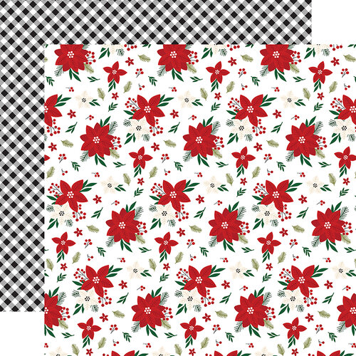 Echo Park - A Gingerbread Christmas Collection - 12 x 12 Double Sided Paper - Poinsettia