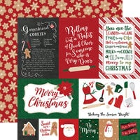 Echo Park - A Gingerbread Christmas Collection - 12 x 12 Double Sided Paper - 4 x 6 Journaling Cards