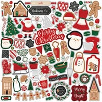 Echo Park - A Gingerbread Christmas Collection - 12 x 12 Cardstock Stickers - Elements