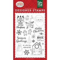 Echo Park - A Gingerbread Christmas Collection - Clear Photopolymer Stamps - Cookies and Milk