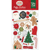 Echo Park - A Gingerbread Christmas Collection - Puffy Stickers