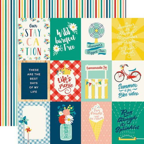 Echo Park - Good Day Sunshine Collection - 12 x 12 Double Sided Paper - 3 x 4 Journaling Cards