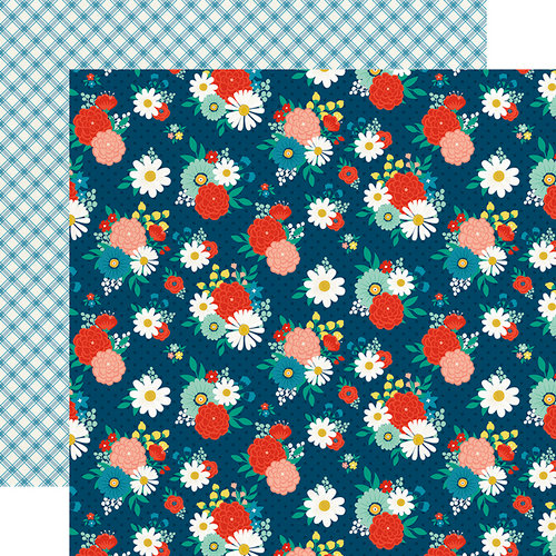 Echo Park - Good Day Sunshine Collection - 12 x 12 Double Sided Paper - Festive Floral