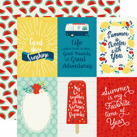 Echo Park - Good Day Sunshine Collection - 12 x 12 Double Sided Paper - 4 x 6 Journaling Cards