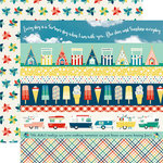 Echo Park - Good Day Sunshine Collection - 12 x 12 Double Sided Paper - Border Strips
