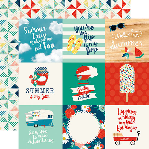 Echo Park - Good Day Sunshine Collection - 12 x 12 Double Sided Paper - 4 x 4 Journaling Cards