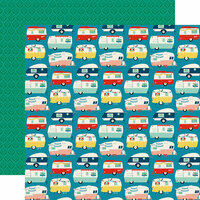 Echo Park - Good Day Sunshine Collection - 12 x 12 Double Sided Paper - Happy Camper
