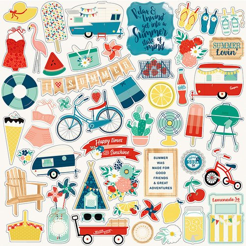 Echo Park - Good Day Sunshine Collection - 12 x 12 Cardstock Stickers - Elements