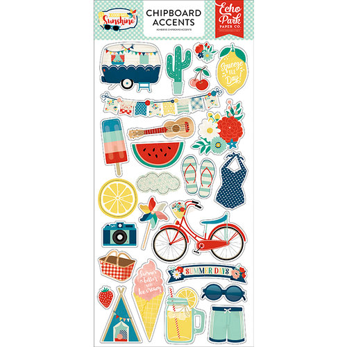 Echo Park - Good Day Sunshine Collection - Chipboard Stickers - Accents