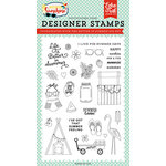Echo Park - Good Day Sunshine Collection - Clear Acrylic Stamps - Better in Summer