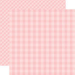 Echo Park - Dots and Stripes Gingham Collection - Spring - 12 x 12 Double Sided Paper - Strawberry Gingham
