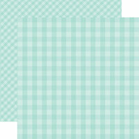 Echo Park - Dots and Stripes Gingham Collection - Spring - 12 x 12 Double Sided Paper - Blueberry Gingham