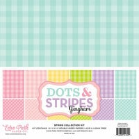 Echo Park - Dots and Stripes Gingham Collection - Spring - 12 x 12 Collection Kit