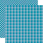 Echo Park - Dots and Stripes Gingham Collection - Summer - 12 x 12 Double Sided Paper - Splash Gingham