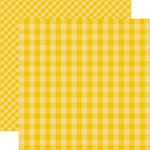 Echo Park - Dots and Stripes Gingham Collection - Summer - 12 x 12 Double Sided Paper - Starfish Gingham