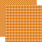 Echo Park - Dots and Stripes Gingham Collection - Autumn - 12 x 12 Double Sided Paper - Orange Gingham