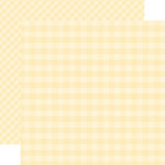 Echo Park - Dots and Stripes Gingham Collection - Autumn - 12 x 12 Double Sided Paper - Cream Gingham