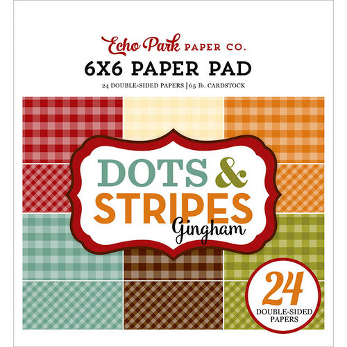 Echo Park - Dots and Stripes Gingham Collection - Autumn - 6 x 6 Paper Pad