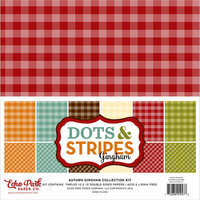 Echo Park - Dots and Stripes Gingham Collection - Autumn - 12 x 12 Collection Kit