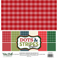 Echo Park - Dots and Stripes Gingham Collection - Christmas - 12 x 12 Collection Kit