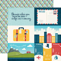 Echo Park - Go See Explore Collection - 12 x 12 Double Sided Paper - 4 x 6 Journaling Cards
