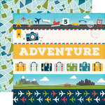 Echo Park - Go See Explore Collection - 12 x 12 Double Sided Paper - Border Strips