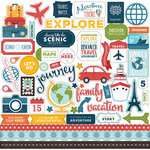 Echo Park - Go See Explore Collection - 12 x 12 Cardstock Stickers - Elements