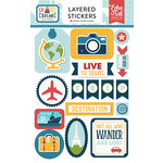 Echo Park - Go See Explore Collection - Layered Cardstock Stickers