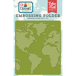 Echo Park - Go See Explore Collection - Embossing Folder - Around the World