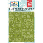 Echo Park - Go See Explore Collection - Embossing Folder - Explore