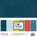 Echo Park - Go See Explore Collection - 12 x 12 Paper Pack - Solids