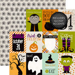 Echo Park - Halloween Collection - 12 x 12 Double Sided Paper - 3 x 4 Journaling Cards