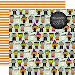Echo Park - Halloween Collection - 12 x 12 Double Sided Paper - Little Monsters